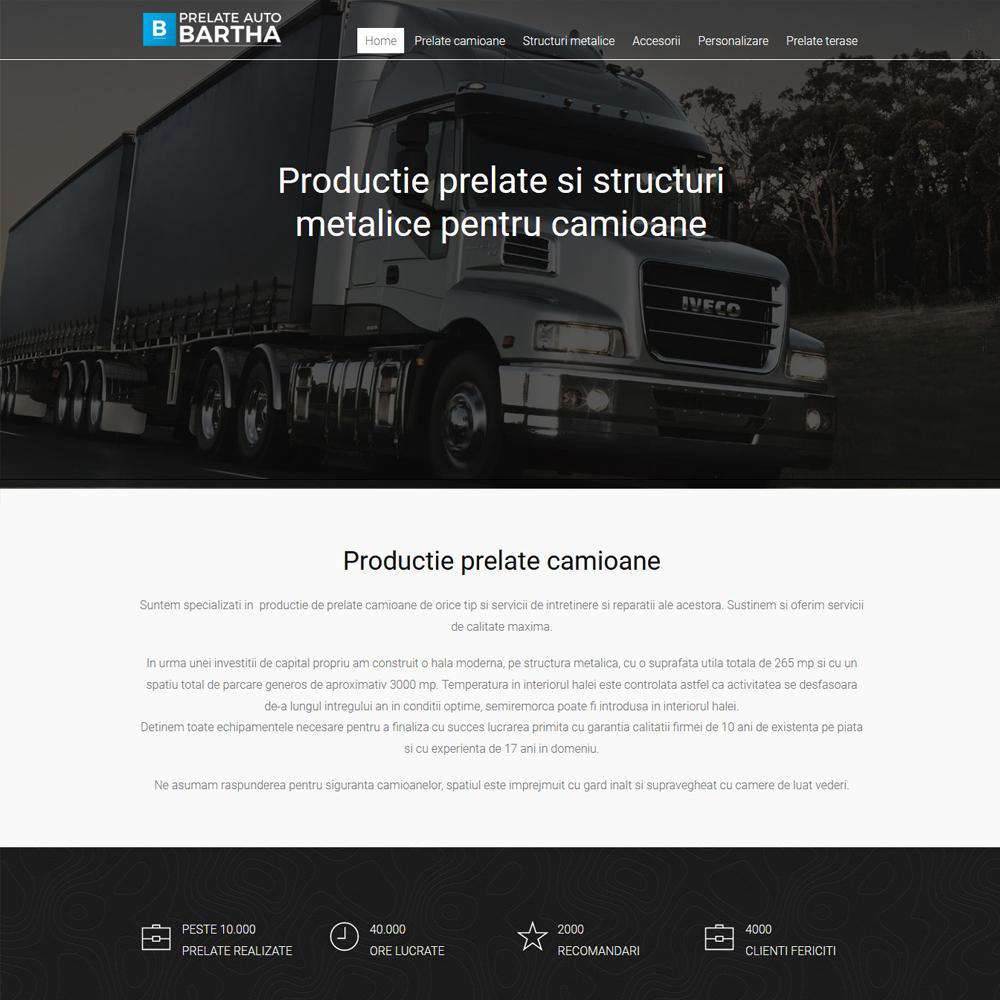 Productie prelate camioane si structuri metalice